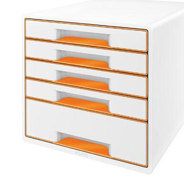 Buc 5 cajones WOW blanco / naranja Leitz