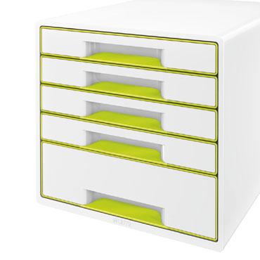Buc 5 cajones WOW blanco / verde Leitz