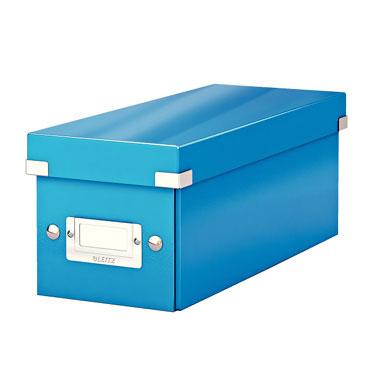 Caja Click & Store 30 CD's azul Leitz
