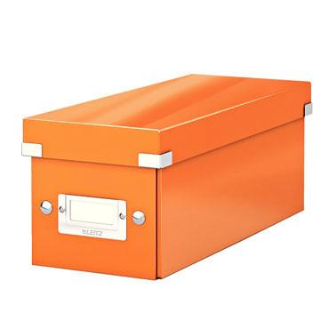 Caja Click & Store 30 CD's naranja Leitz