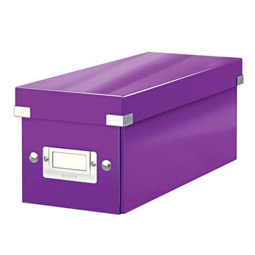 Caja Click & Store 30 CD's violeta Leitz 60410062