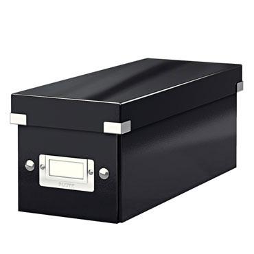 Caja Click & Store 30 CD's negra Leitz