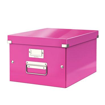 Caja Click & Store Din A-4 fucsia Leitz