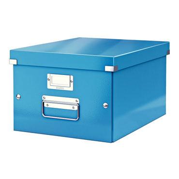 Caja Click & Store Din A-4 azul Leitz
