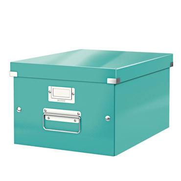 Caja Click & Store Din A-4 turquesa Leitz
