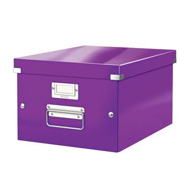 Caja Click & Store Din A-4 violeta Leitz 60440062