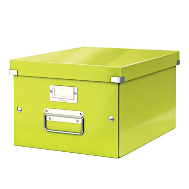 Caja Click & Store Din A-4 verde Leitz