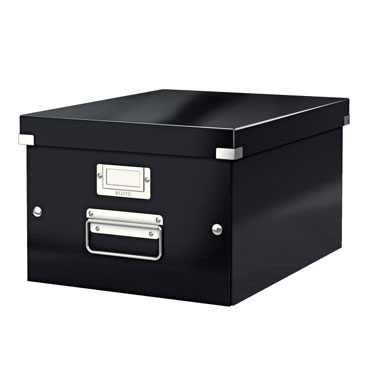 Caja Click & Store Din A-4 negra Leitz 60440095