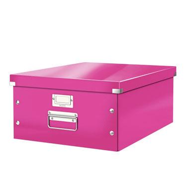 Caja Click & Store Din A-3 fucsia Leitz