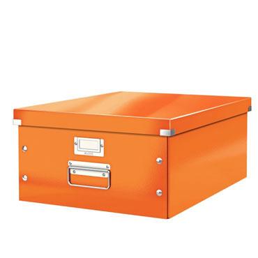 Caja Click & Store Din A-3 naranja Leitz