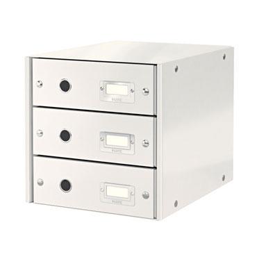 Buc 3 cajones Click & Store blanco Leitz 60480001