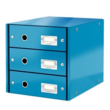 Buc 3 cajones Click & Store azul Leitz 60480036