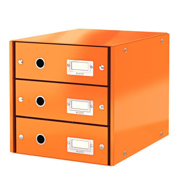 Buc 3 cajones Click & Store naranja Leitz