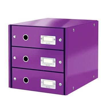 Buc 3 cajones Click & Store violeta Leitz 60480062