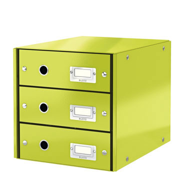 Buc 3 cajones Click & Store verde Leitz 60480064