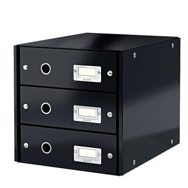 Buc 3 cajones Click & Store negro Leitz 60480095