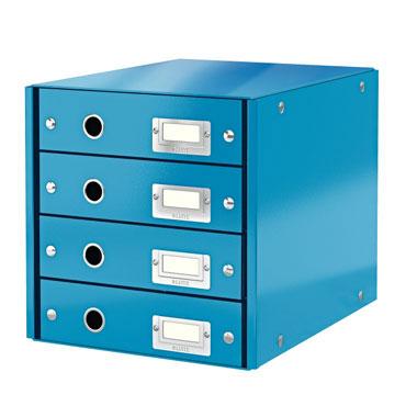 Buc 4 cajones Click & Store azul Leitz