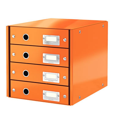 Buc 4 cajones Click & Store naranja Leitz