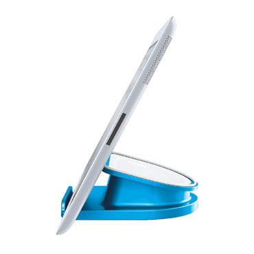 Soporte sobremesa giratorio iPad/Tablet azul Leitz