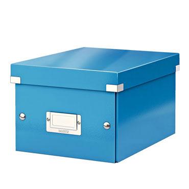 Caja Click & Store 20 DVD's azul Leitz