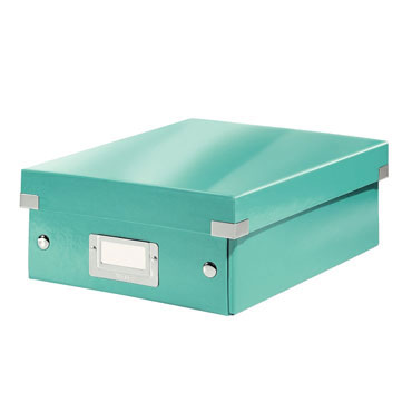 Caja Click & Store mediana turquesa Leitz