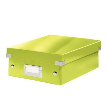 Caja Click & Store pequeña verde Leitz