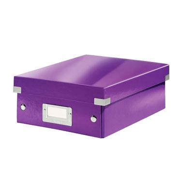 Caja Click & Store mediana violeta Leitz