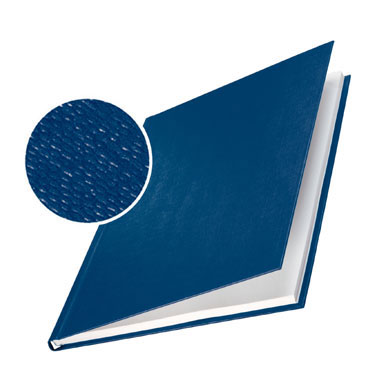 10 tapasLeitz  ImpressBind rígidas gofrado lino azules A 73910035