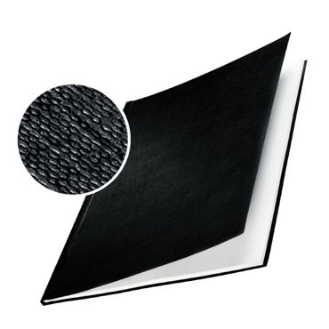 10 tapas Leitz ImpressBind rígidas gofrado lino negras AA 73900095