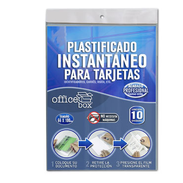 10 fundas plastificar tarjetas Office Box