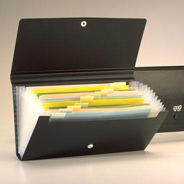 Archivador fuelle PP cheque negro Office Box