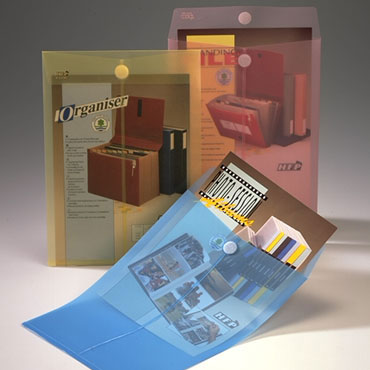 Bolsa velcro Din A-4 azul Office Box 90026