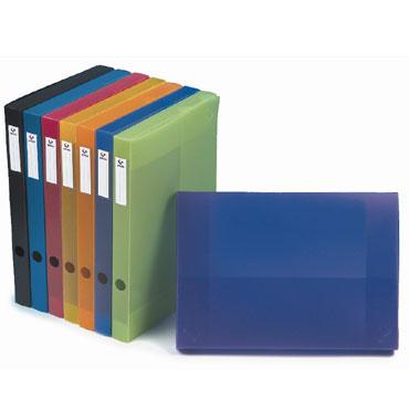 Caja Colorgraf PP azul 6 cm. Grafoplás