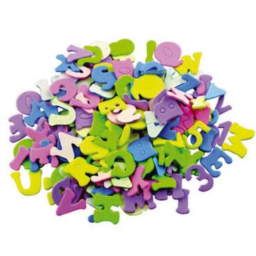 170 letras y números de EVA adhesivos Fixo 68001100
