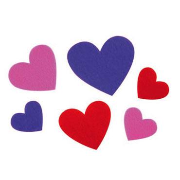 90 corazones de EVA adhesivos Fixo 68001200
