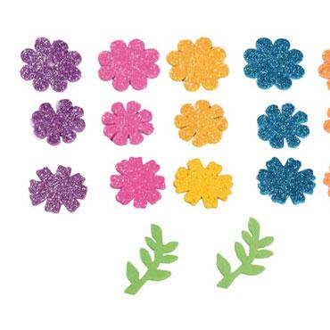 58 flores de EVA adhesivas purpurina Fixo 68002100