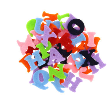 100 letras fieltro adhesivo Fixo 68003900