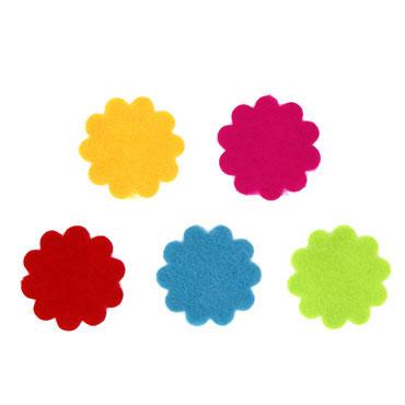 30 flores fieltro adhesivo Fixo 68004100