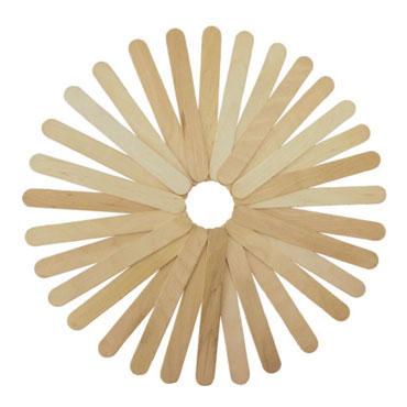 50 palos de madera natural anchos 15 cm. Fixo 68005000