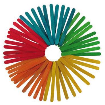 50 palos de madera color finos 11,4 cm. Fixo 68005300