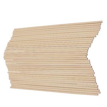 36 palos de madera natural finos redondos 20 cm. Fixo 68005600
