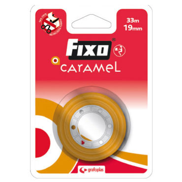Cinta adhesiva 19x33 Fixo Caramel 75003300