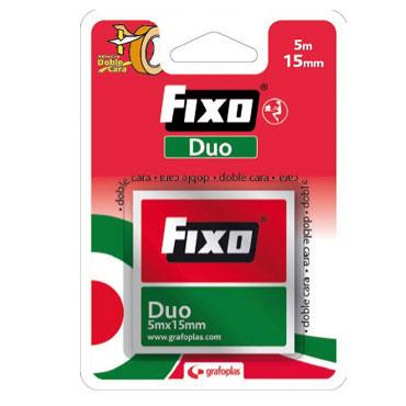 Cinta adhesiva doble cara 15 mm.x5 m. Fixo 75600300
