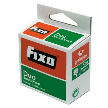 Cinta adhesiva doble cara 30 mm.x5 m. Fixo 75600600