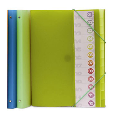 Carpeta clasificadora Folio verde 12pos Grafoplás 30111921