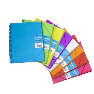 Carpeta Maxiplás 30 fundas azul translúcido Grafoplás 39833030