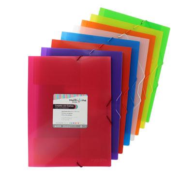 6 carpetas de gomas Multiline roja Grafoplás 04801851