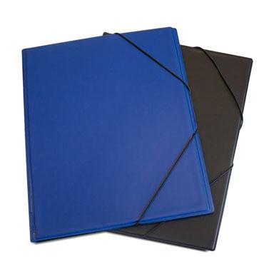 Carpeta gomas PVC Folio azul 3 solapas Grafoplás 01220030