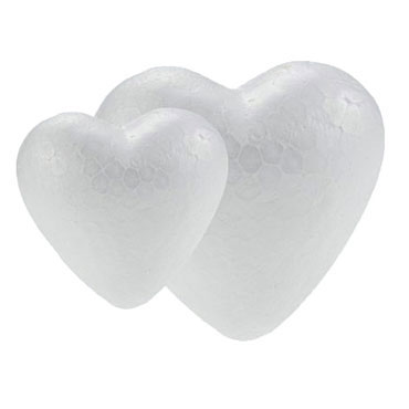 12 corazones poliespán 4,5 cm. Fixo 68006800