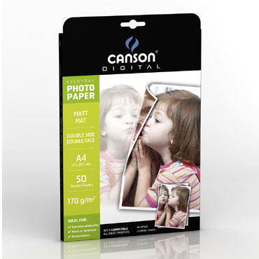 50HJ papel  Everyday mate 2 caras A-4 170 g/m² Canson
